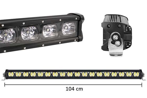 Barra LED Singola Fila 104cm Lente Combo 18X7W 01