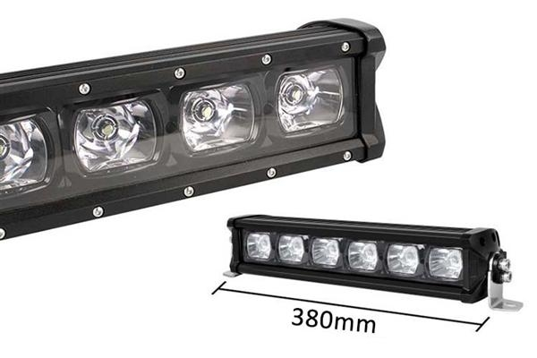 Barra LED Singola Fila 38cm Proiettore 6X7W 01
