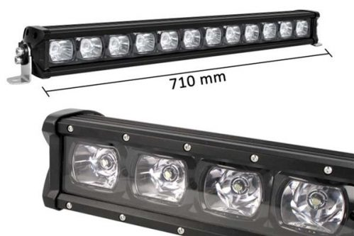 Barra LED Singola Fila 71cm Riflettore 12X7W 01