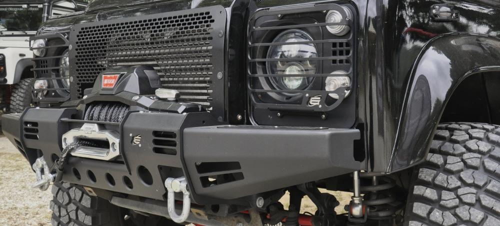 Black Cover Winch Defender Modular Bumper Equipe 4x4 Off
