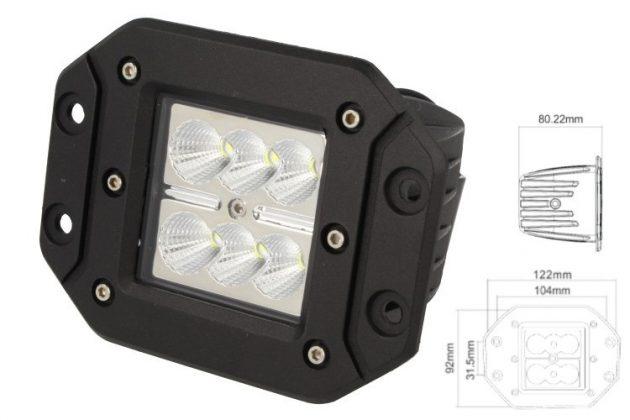 Rectangular Daylight Worklight LED Lamp 6x4W 01