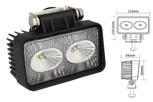 Rectangular Daylight Worklight LED Lamp 2x10W 01