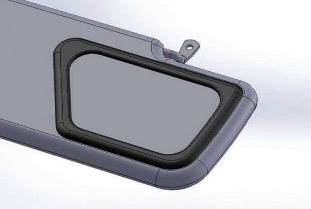 Sun Visor Mirror Defender