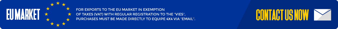 "For exports to the EU market in exemption of taxes (VAT) with regular registration to the ""VIES"", purchases must be made directly to EQUIPE 4X4 via ""eMail""."